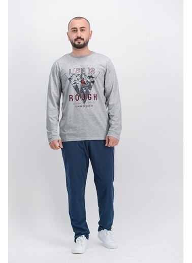 Arnetta Arnetta Life İs Rough Kırmızı Erkek Pijama Takımı Gri